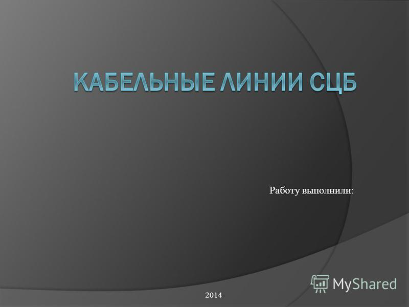 2014 Работу выполнили: