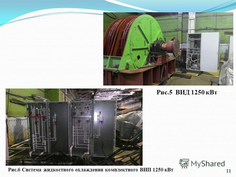 11 Рис.5 ВИД 1250 к Вт Рис.6 Система жидкостного охлаждения комплектного ВИП 1250 к Вт