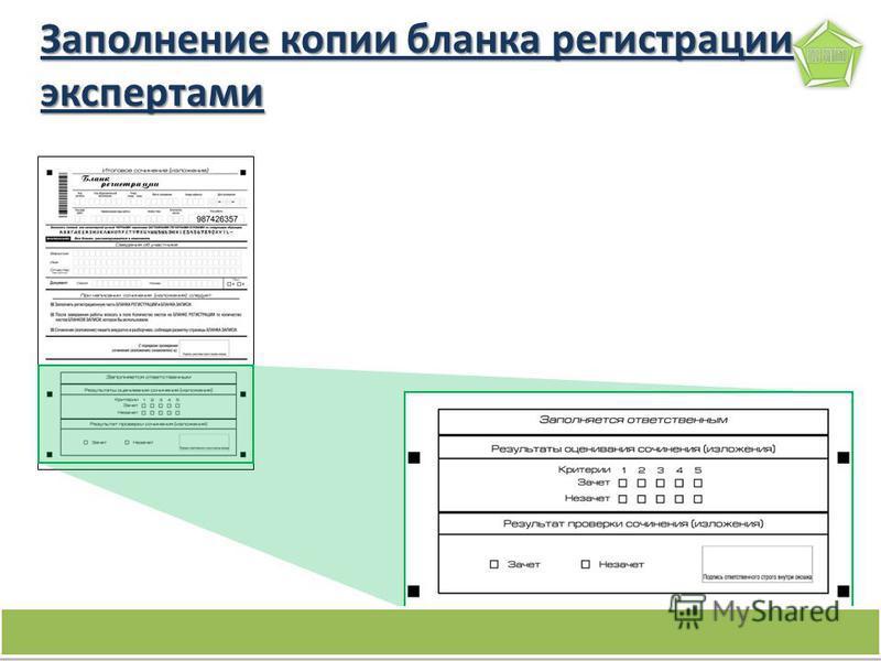 16 Заполнение копии бланка регистрации экспертами