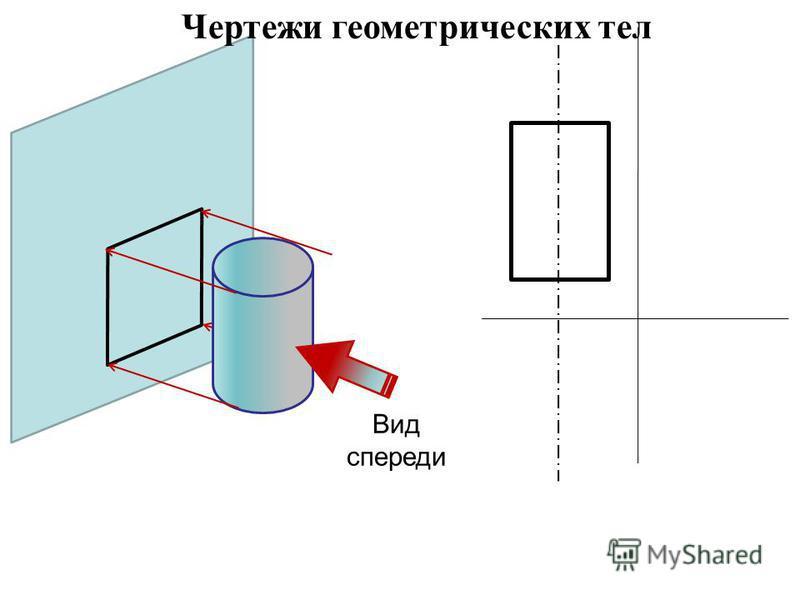 Вид спереди Чертежи геометрических тел