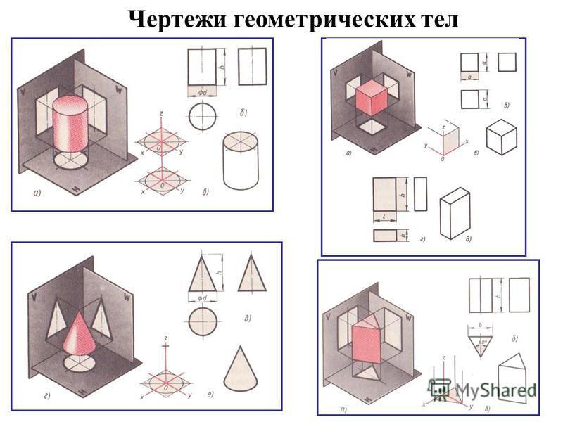 Чертежи геометрических тел