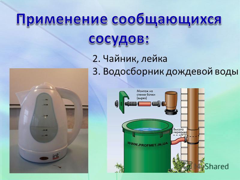 2. Чайник, лейка 3. Водосборник дождевой воды