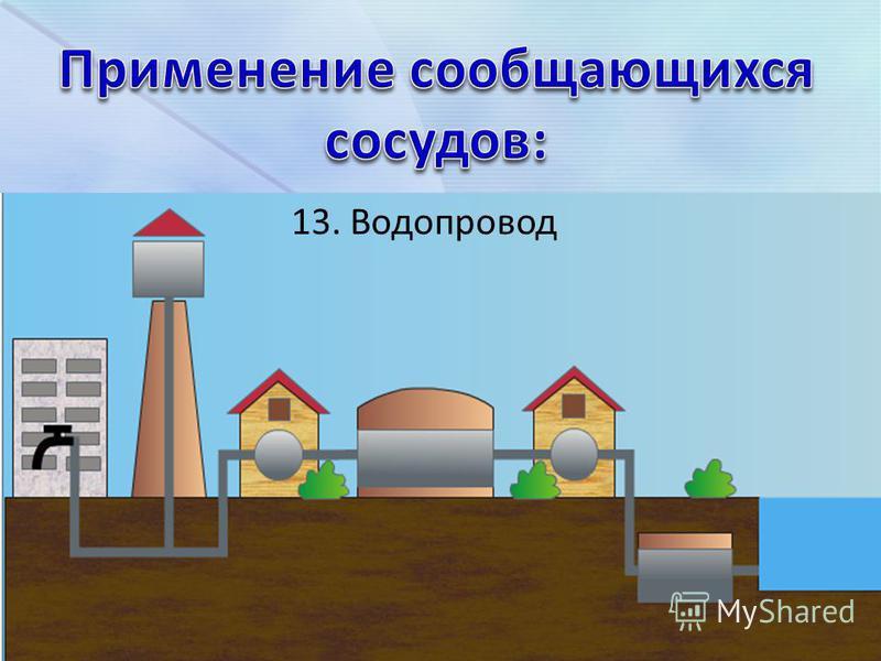 13. Водопровод