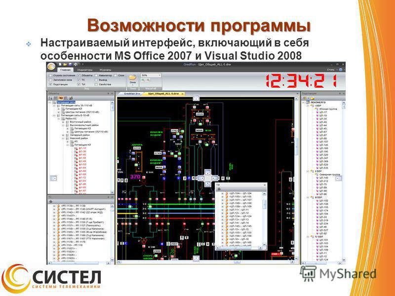 Возможности программы Настраиваемый интерфейс, включающий в себя особенности MS Office 2007 и Visual Studio 2008