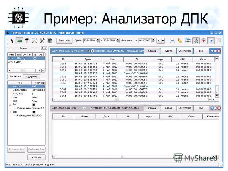 Пример: Анализатор ДПК 16