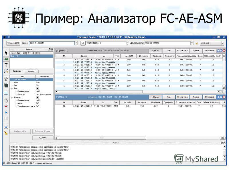 Пример: Анализатор FC-AE-ASM 18