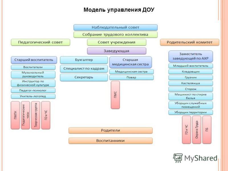 Модель управления ДОУ