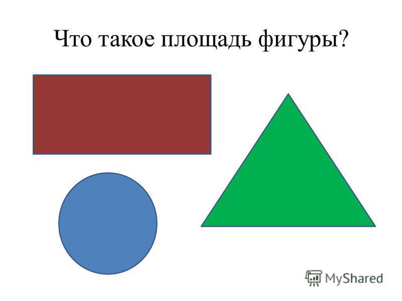 Что такое площадь фигуры?