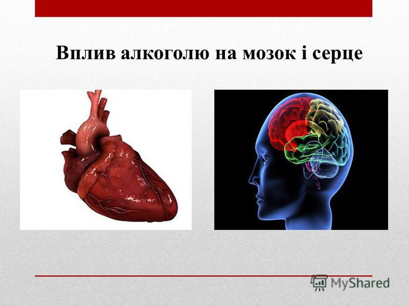 Вплив алкоголю на мозок і серце