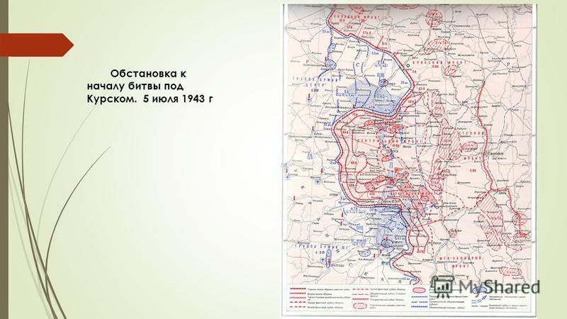Обстановка к началу битвы под Курском. 5 июля 1943 г