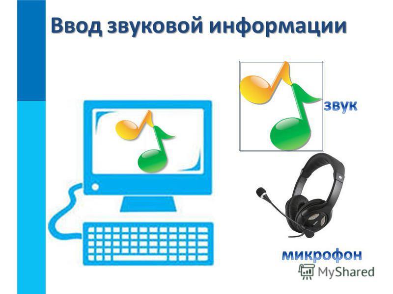 Ввод звуковой информации