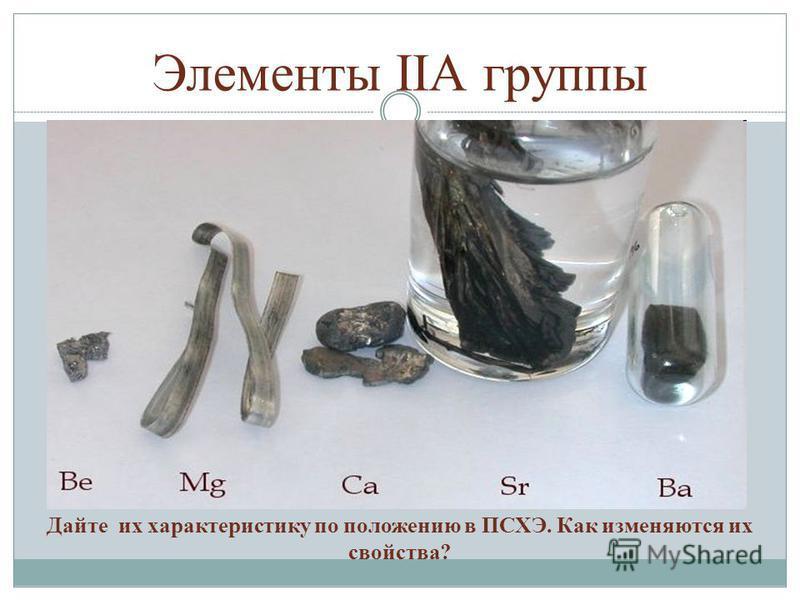 Элементы IIА группы Дайте их характеристику по положению в ПСХЭ. Как изменяются их свойства?