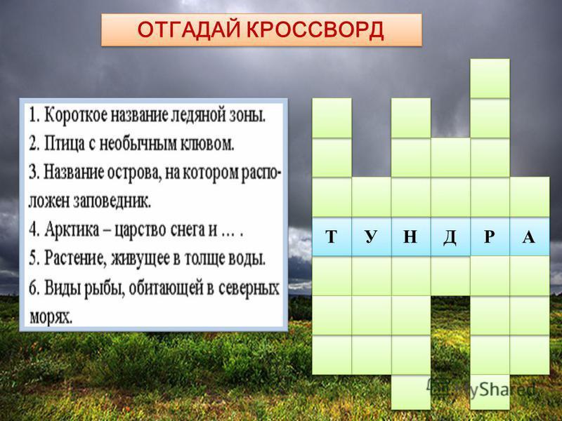 ОТГАДАЙ КРОССВОРД 3 3 6 6 5 5 4 4 2 2 1 1 А А Р Р Д Д Н Н У У Т Т