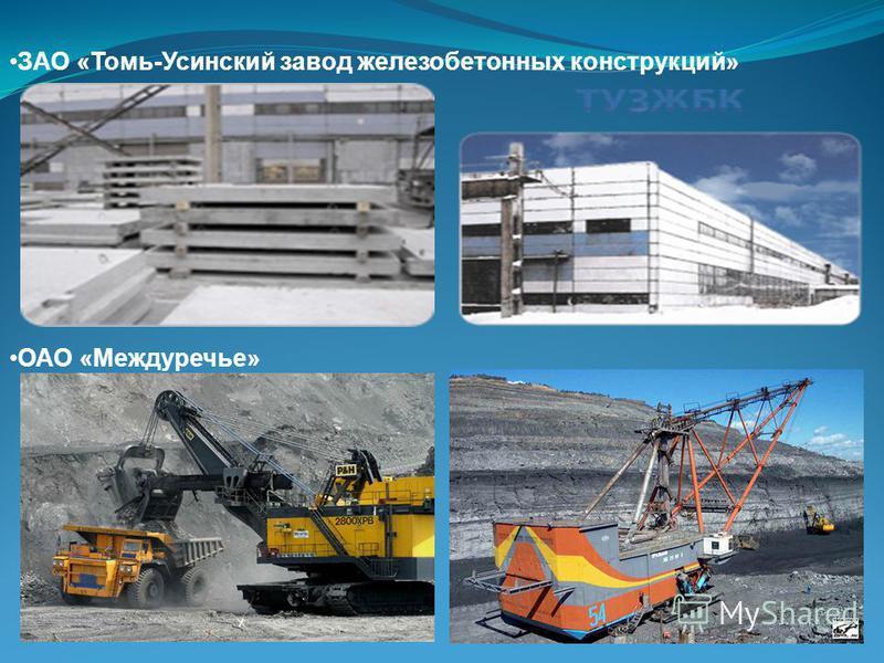ОАО «Междуречье» ЗАО «Томь-Усинский завод железобетонных конструкций»