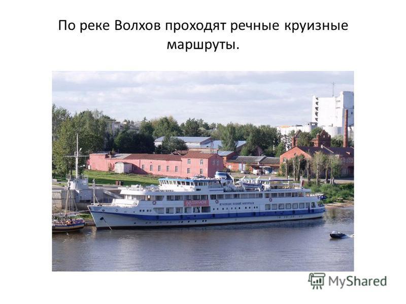 По реке Волхов проходят речные круизные маршруты.