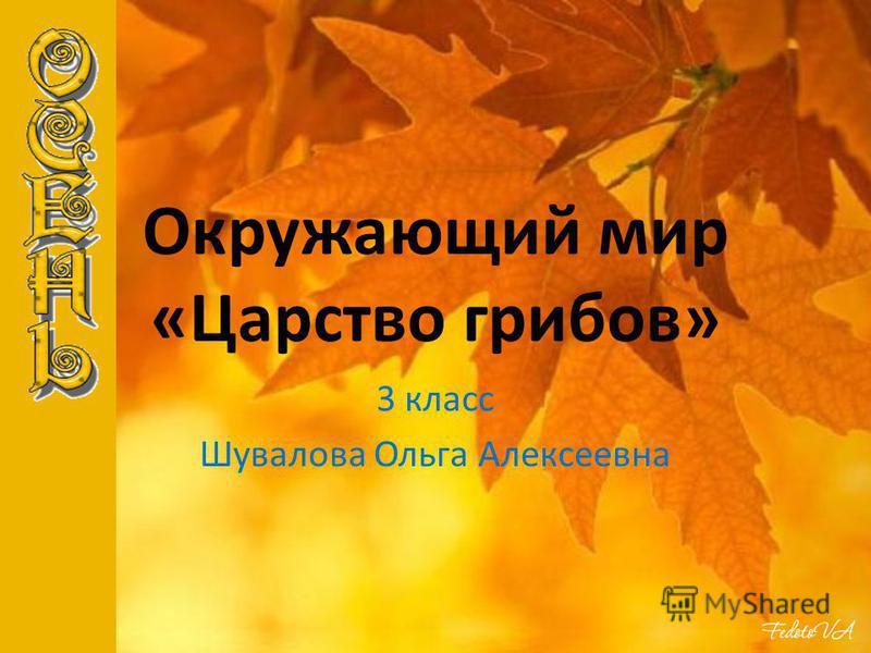 Окружающий мир «Царство грибов» 3 класс Шувалова Ольга Алексеевна