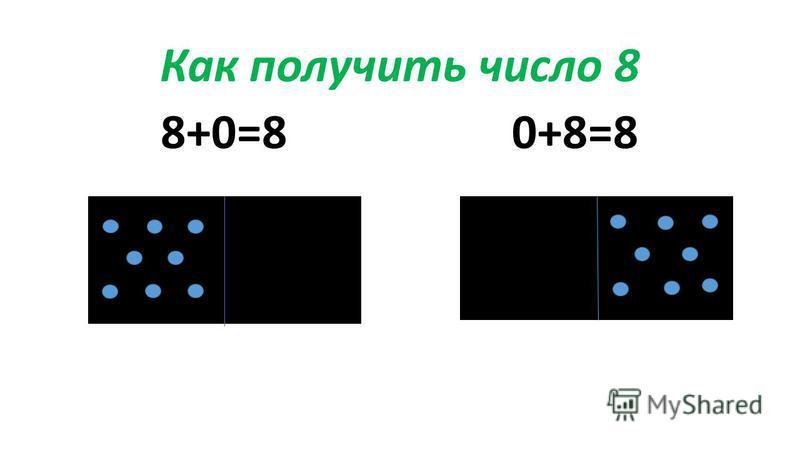 Как получить число 8 8+0=80+8=8