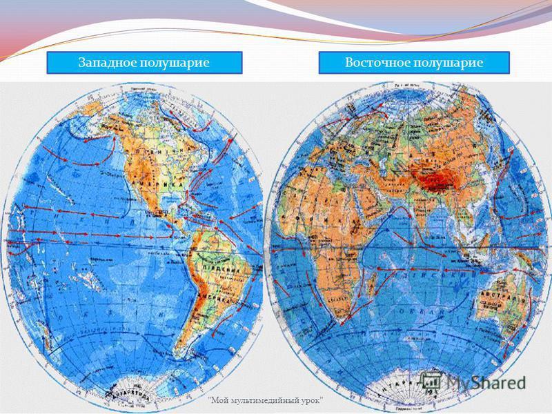 Западное полушарие Восточное полушарие РОССИЯ Мой мультимедийный урок