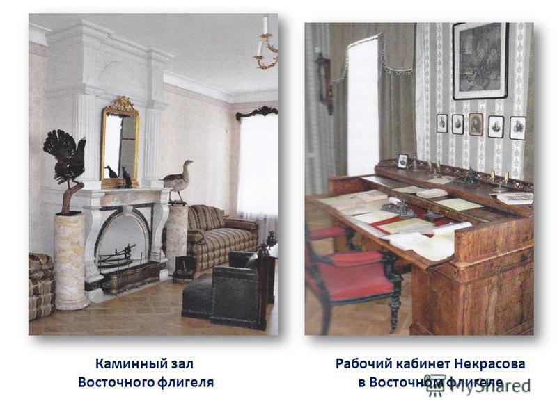 Рабочий кабинет Некрасова в Восточном флигеле Каминный зал Восточного флигеля