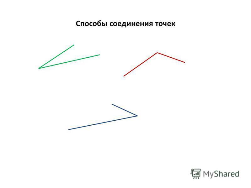 Способы соединения точек