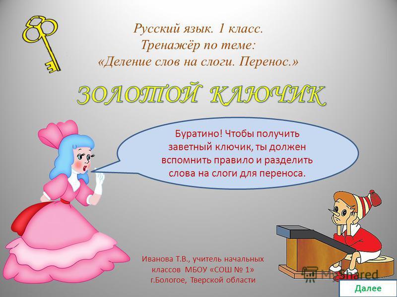 Урок русского языка во 2 классе слог и переносслов по климановой с презентацией