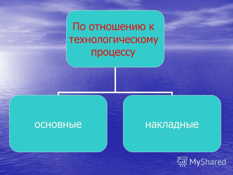 По отношению к технологическому процессу основные накладные
