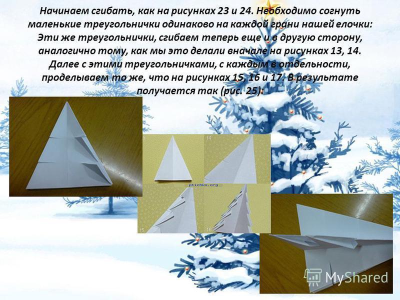 Елочка из бумаги объемная  как и снежинка 77