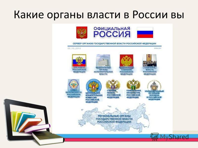 Какие органы власти в России вы знаете?