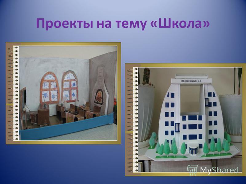 Проекты на тему «Школа»