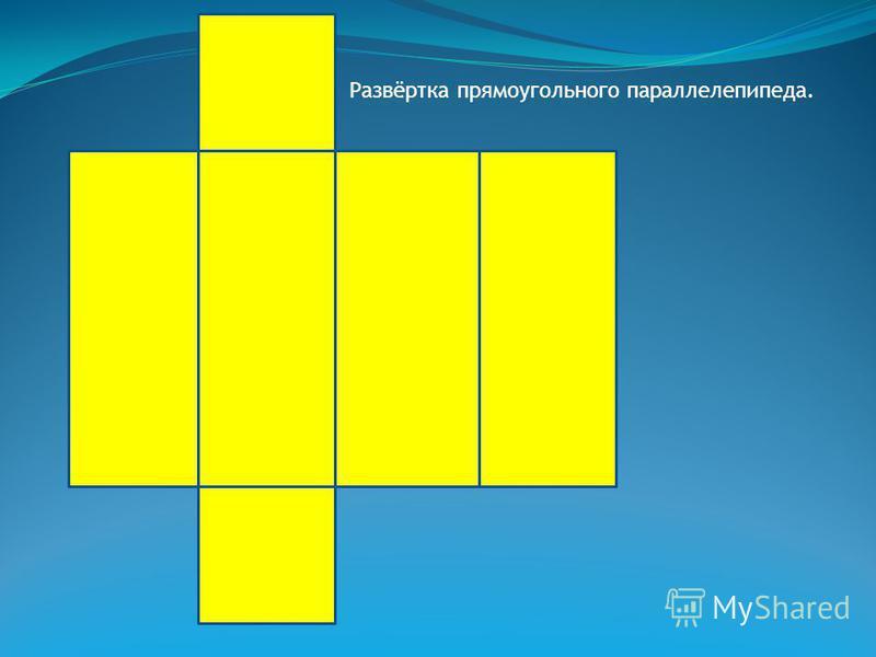 Прямоугольный параллелепипед,у которого все бёдра равны, называют кубом.