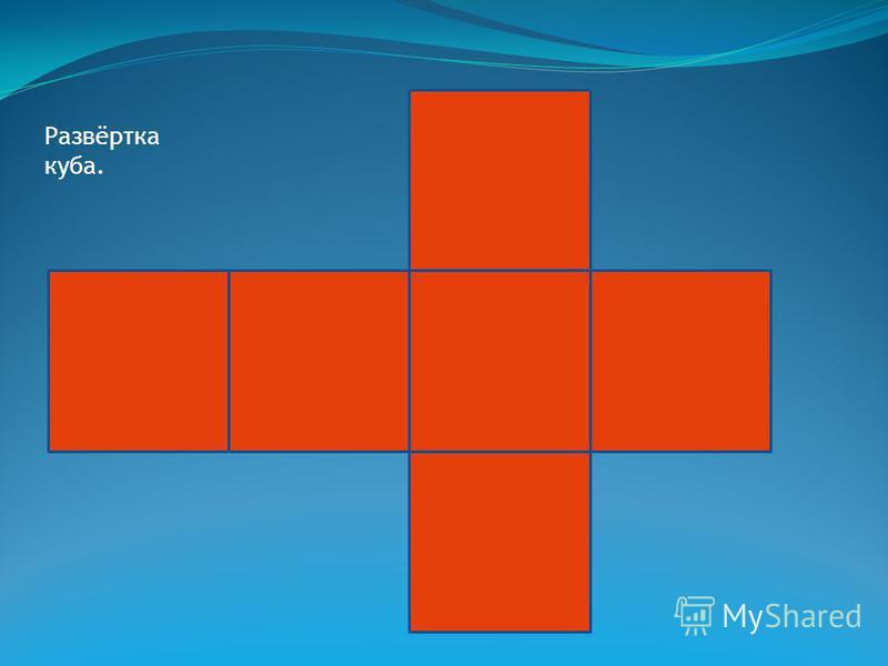 Развёртка прямоугольного параллелепипеда.
