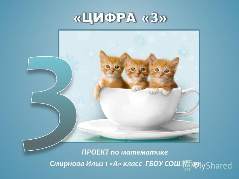 ПРОЕКТ по математике Смирнова Ильи 1 «А» класс ГБОУ СОШ 49