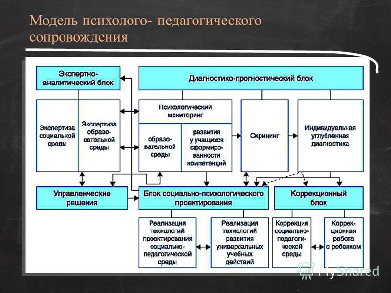 Модель психолого- педагогического сопровождения