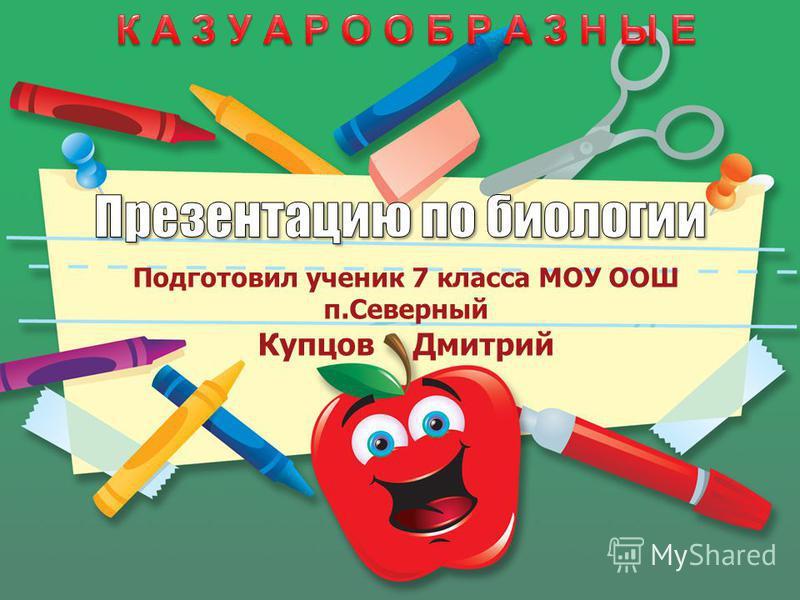 Подготовил ученик 7 класса МОУ ООШ п.Северный Купцов Дмитрий