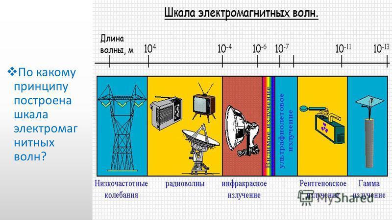По какому принципу построена шкала электромагнитных волн?
