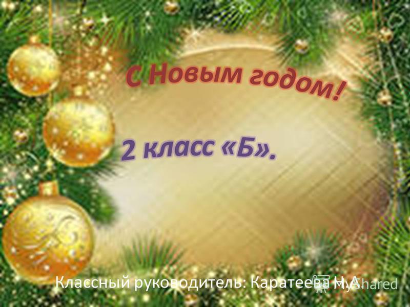 Классный руководитель: Каратеева Н.А.