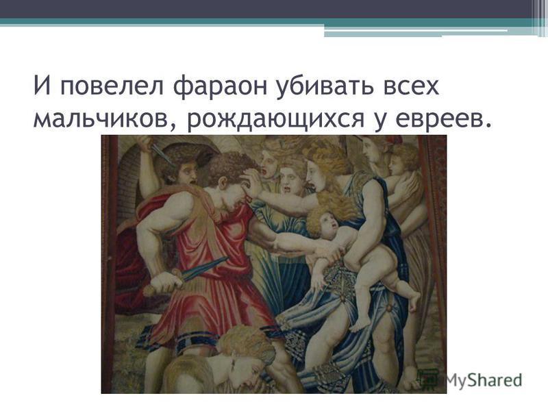 И повелел фараон убивать всех мальчиков, рождающихся у евреев.