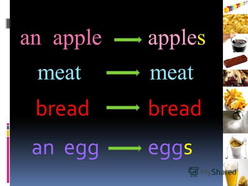 an appleapples meat bread an eggeggs