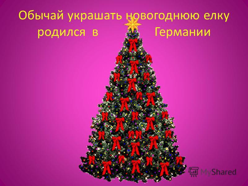 Обычай украшать новогоднюю елку родился в Германии