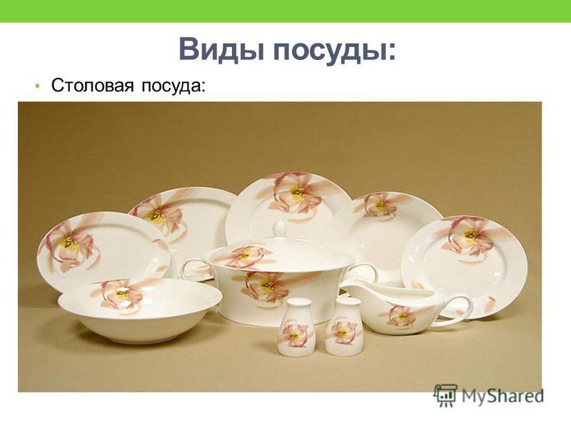 Виды посуды: Чайная посуда: