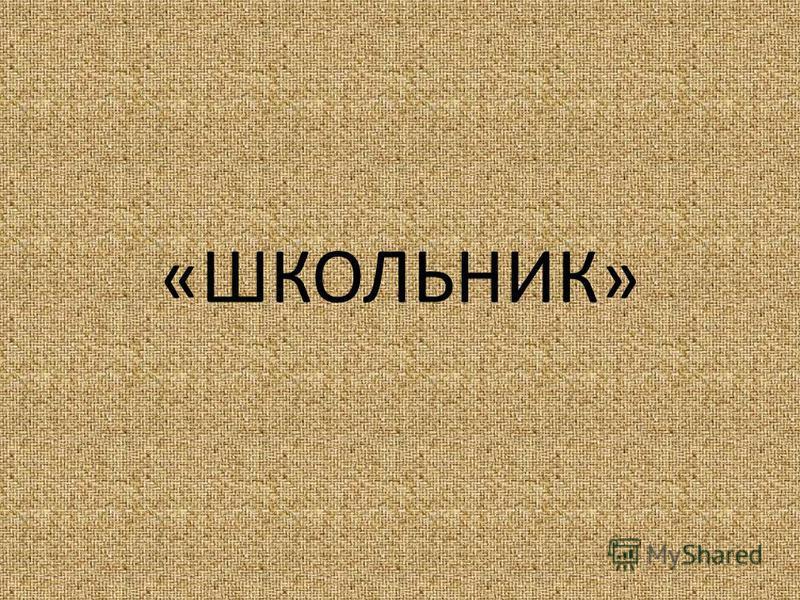 «ШКОЛЬНИК»