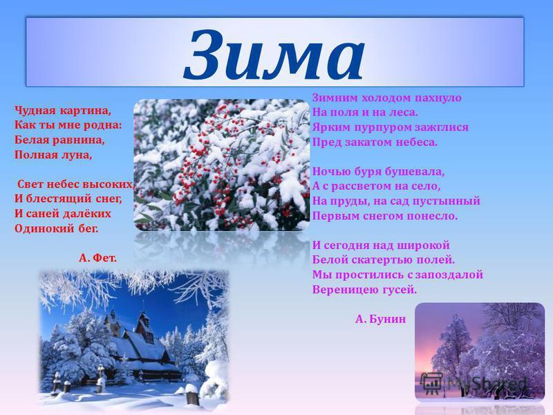 стихотворения о красоте природы русских класскиков