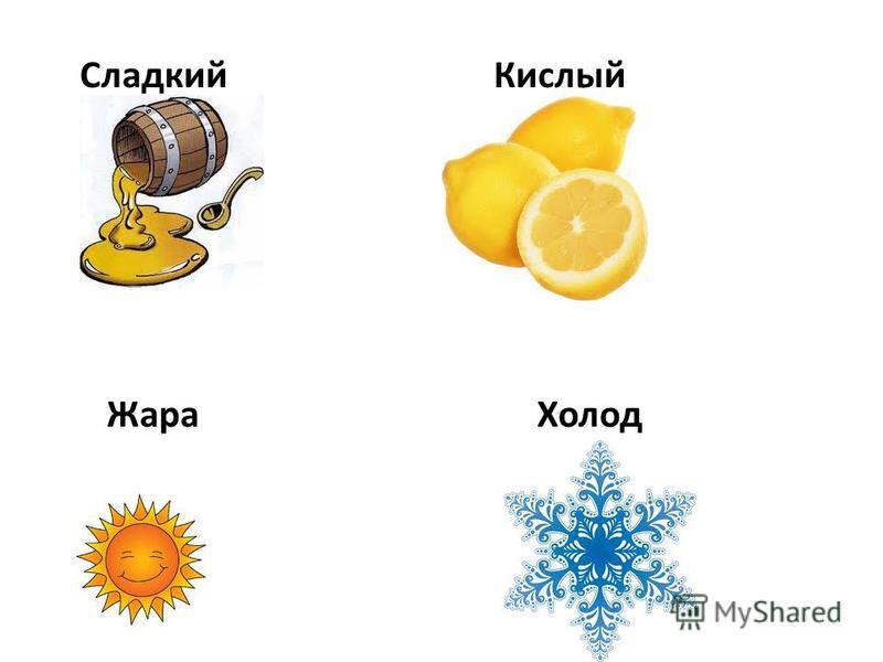 Сладкий Кислый Жара Холод