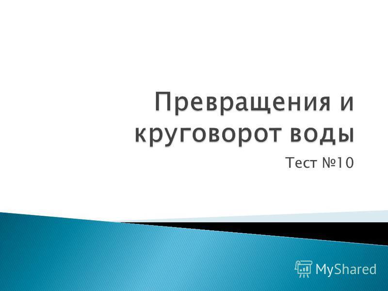 Тест 10