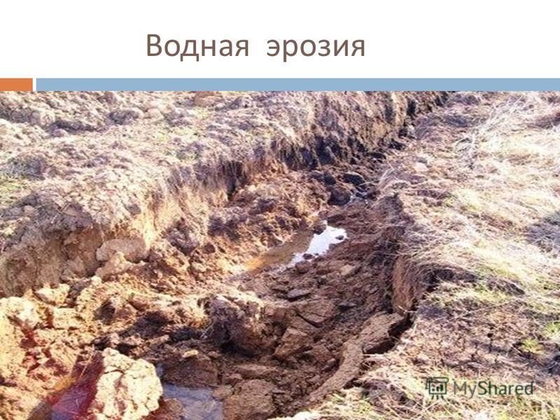 Водная эрозия