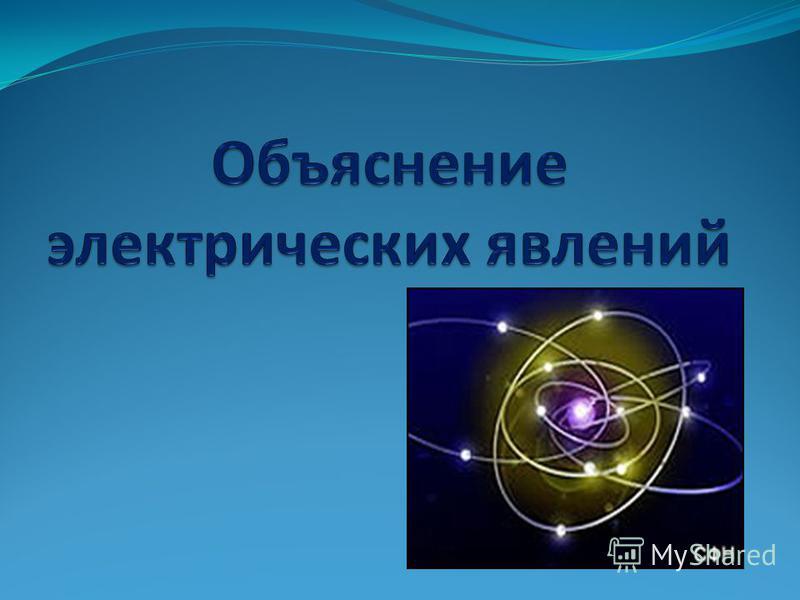 Объяснение электрических явлений 8 класс презентация