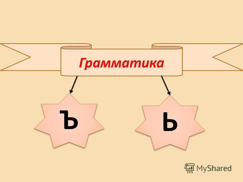 Грамматика Ъ Ъ Ь Ь