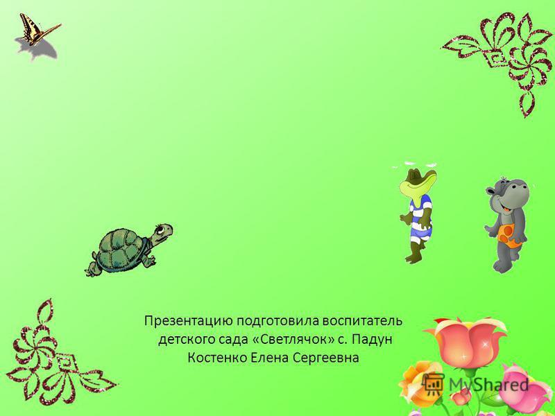 Презентацию подготовила воспитатель детского сада «Светлячок» с. Падун Костенко Елена Сергеевна