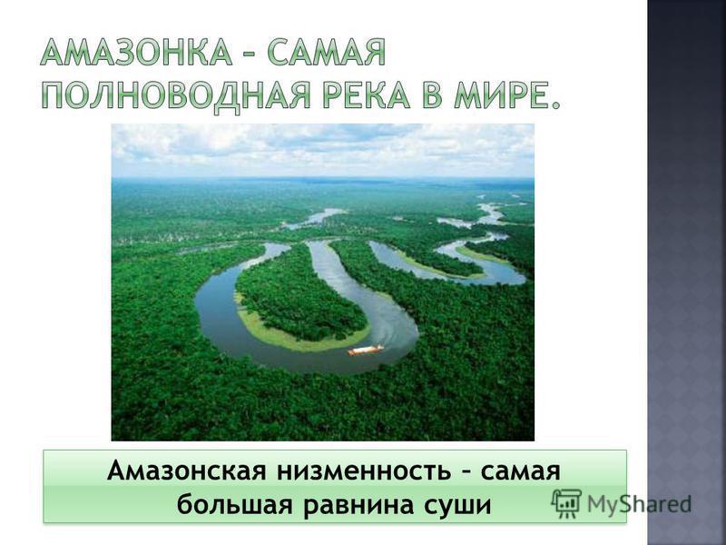 Амазонская низменность – самая большая равнина суши