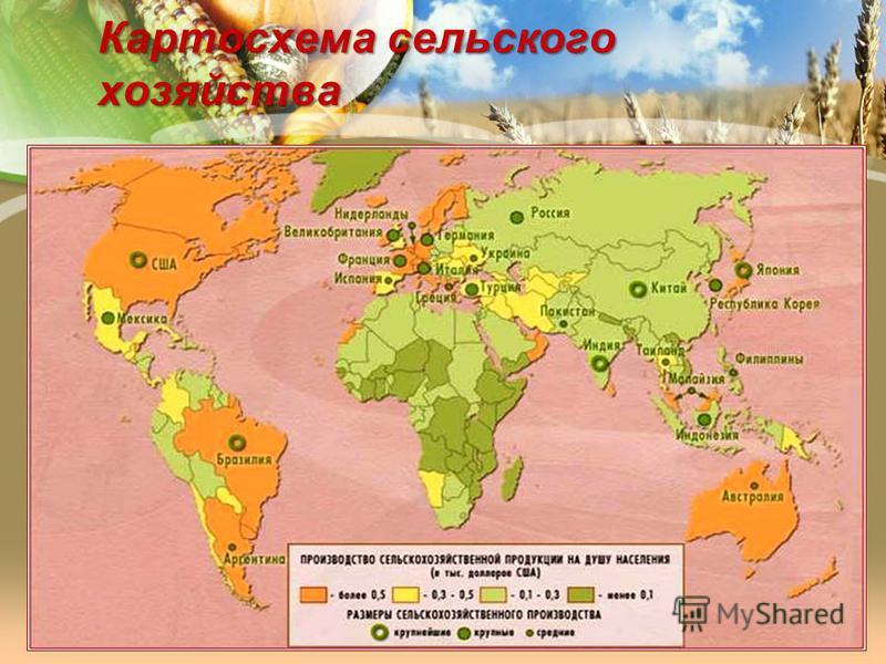 Картосхема сельского хозяйства